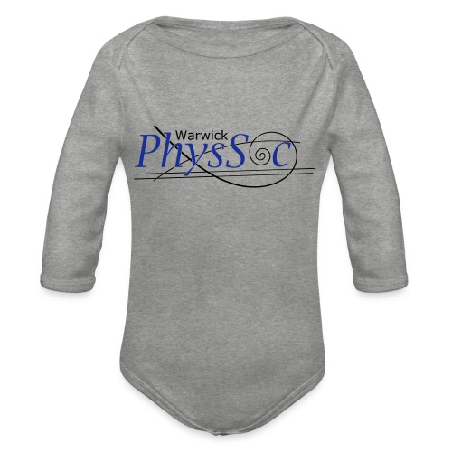 Official Warwick PhysSoc T Shirt - Organic Longsleeve Baby Bodysuit