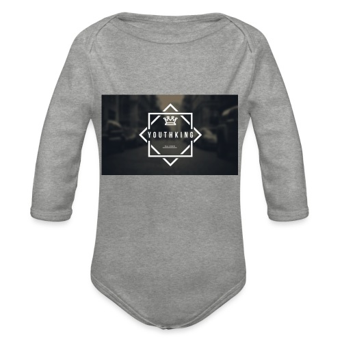 Youth King logo - Organic Longsleeve Baby Bodysuit