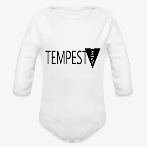 Tempest Drive: Full Logo - Langærmet babybody, økologisk bomuld