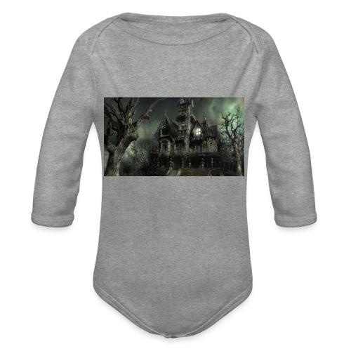 Casa embrujada - Body orgánico de manga larga para bebé