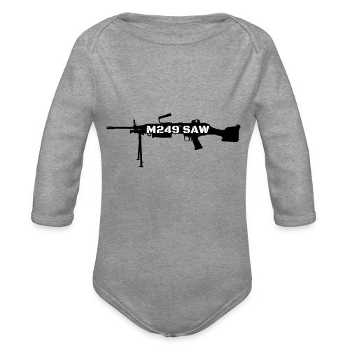 M249 SAW light machinegun design - Baby bio-rompertje met lange mouwen
