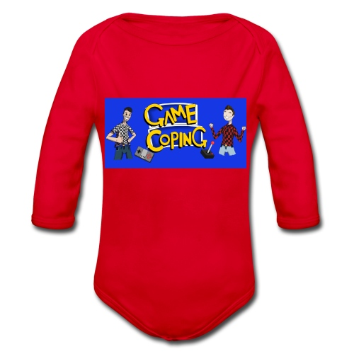 Game Coping Happy Banner - Organic Longsleeve Baby Bodysuit