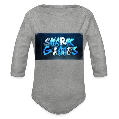 SharkGames - Body ecologico per neonato a manica lunga