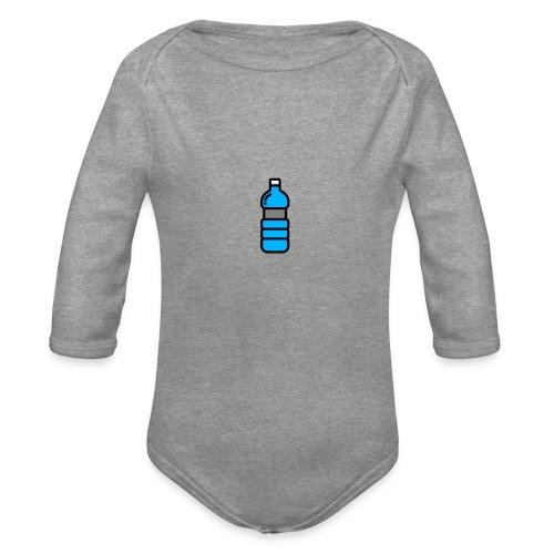 Bottlenet Tshirt Grijs - Baby bio-rompertje met lange mouwen