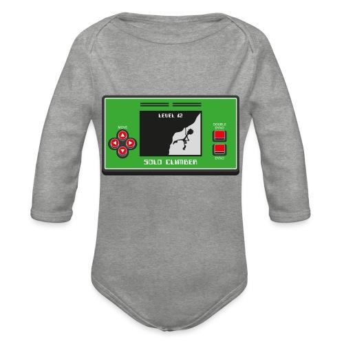 Solo Climber Telespiel - Baby Bio-Langarm-Body