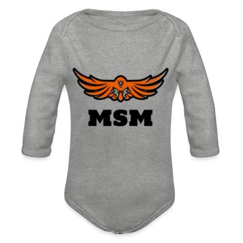 MSM EAGLE - Langærmet babybody, økologisk bomuld