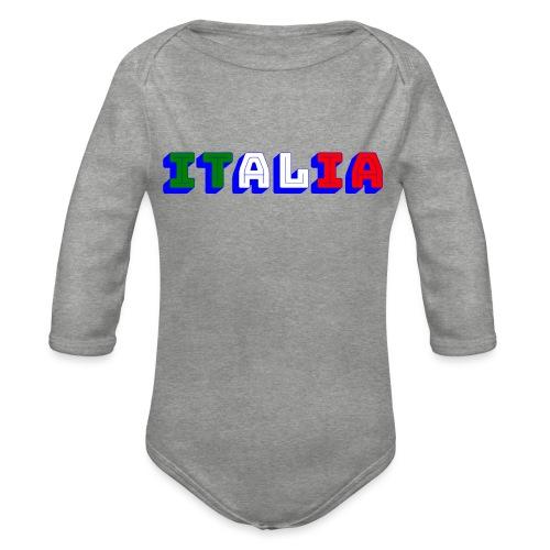 Italia - Body ecologico per neonato a manica lunga