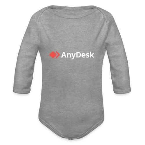 AnyDesk - logo white - Baby Bio-Langarm-Body