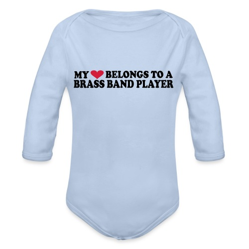 MY HEART BELONGS TO A BRASS BAND PLAYER - Økologisk langermet baby-body