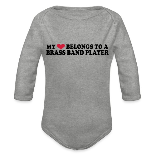 MY HEART BELONGS TO A BRASS BAND PLAYER - Økologisk langermet baby-body