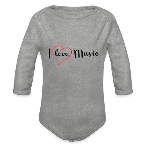 I Love Music - Body ecologico per neonato a manica lunga