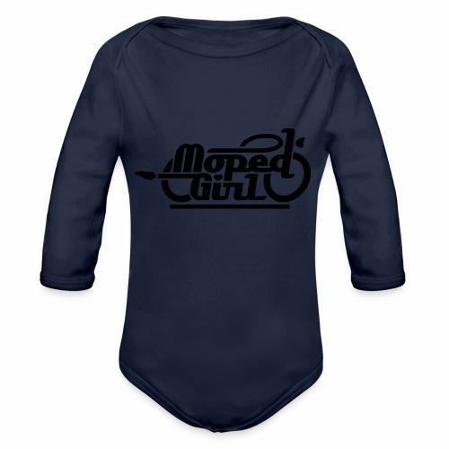 Moped Girl / Mopedgirl (V1) - Organic Longsleeve Baby Bodysuit