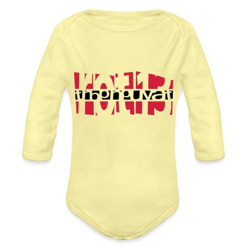 rot13 - 2colors - Baby Bio-Langarm-Body