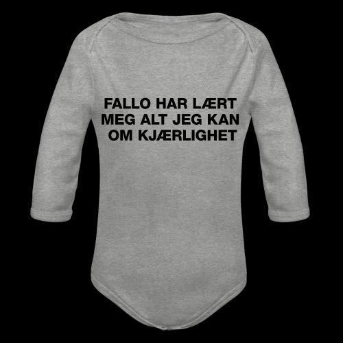 F-H-L-M-A-J-K-O-K-GENSER - Økologisk langermet baby-body