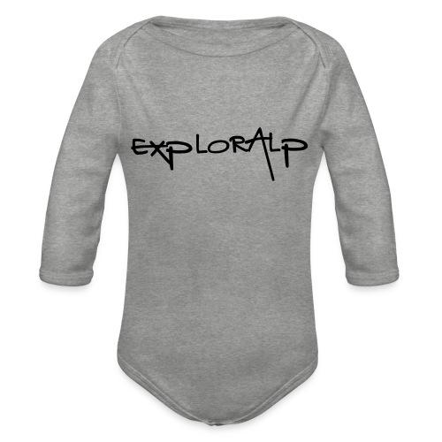 exploralp test oriz - Organic Longsleeve Baby Bodysuit