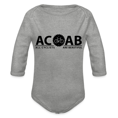 ACAB ALL CYCLISTS - Baby Bio-Langarm-Body