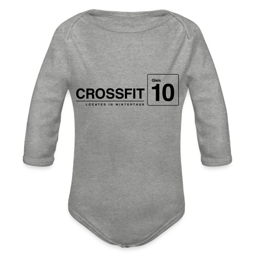 CrossFit_Gleis_10_Logo_1_Black - Baby Bio-Langarm-Body