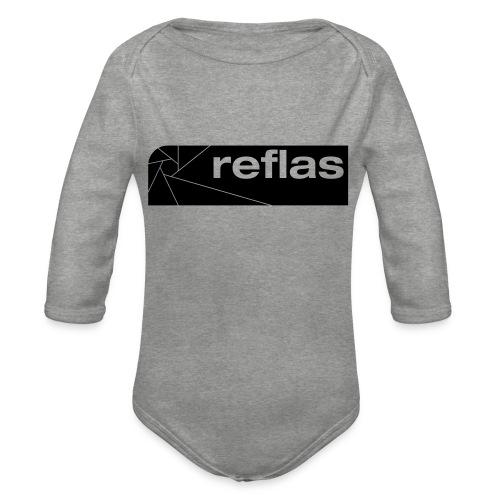 Reflas Clothing Black/Gray - Body ecologico per neonato a manica lunga