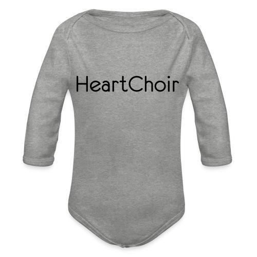 schriftzug heartchoir - Baby Bio-Langarm-Body