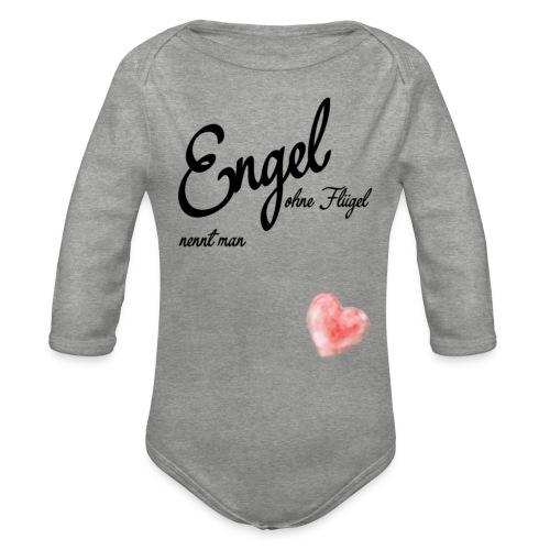 Engel ohne Fluegel nennt man Geschen zum Muttertag - Baby Bio-Langarm-Body
