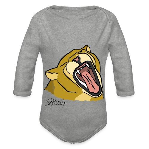 Gähnender / brüllender Löwe - Baby Bio-Langarm-Body