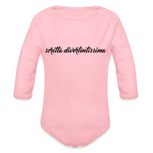 SCRITTA DIVERTENTE - Body ecologico per neonato a manica lunga