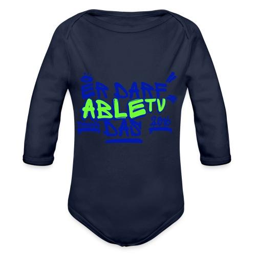 AbleTV Grafitti Logo Marken Shirt (Er Darf Das) - Baby Bio-Langarm-Body