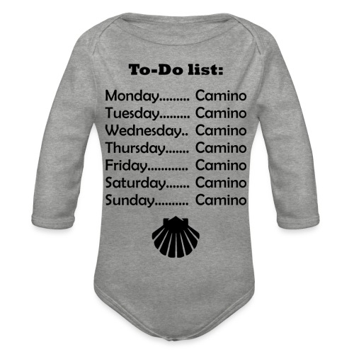 To-do list: Camino - Langærmet babybody, økologisk bomuld