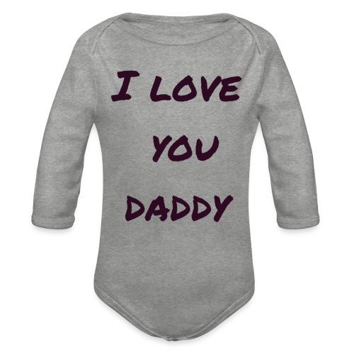 Ich liebe dich Papa - Vatertagsgeschenktipp - Baby Bio-Langarm-Body