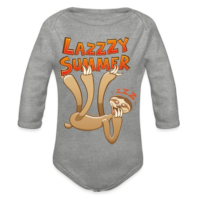 Sleepy sloth yawning and enjoying a lazy summer