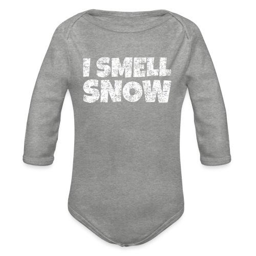 I Smell Snow Schnee, Weihnachten & Wintersport - Baby Bio-Langarm-Body