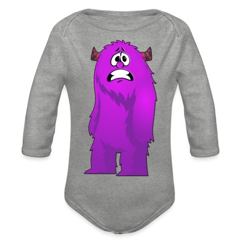 Lila Monster 10 - Baby Bio-Langarm-Body