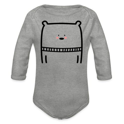 Bär - Baby Bio-Langarm-Body
