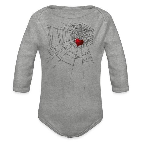 trappola_del_cuore - Body ecologico per neonato a manica lunga