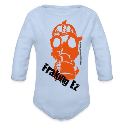 Anti - fraking - Body orgánico de manga larga para bebé