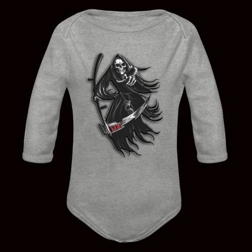EDG reaper / SoWeQDK - Langærmet babybody, økologisk bomuld