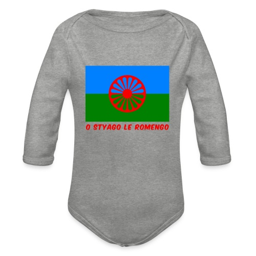 o styago le romengo flag of romani people t-shirt - Body ecologico per neonato a manica lunga