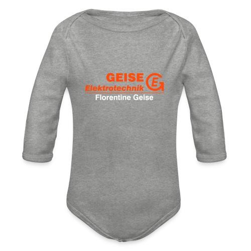 GE Logo Text Florentine - Baby Bio-Langarm-Body