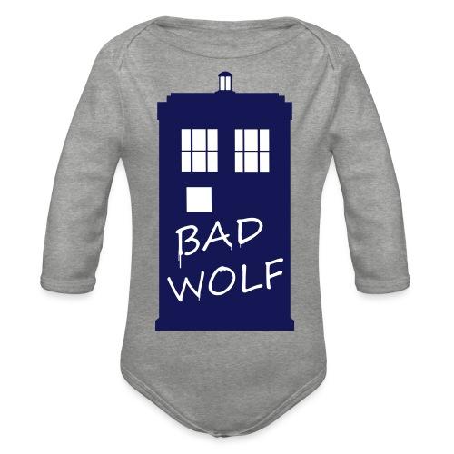 Bad Wolf Tardis - Body Bébé bio manches longues