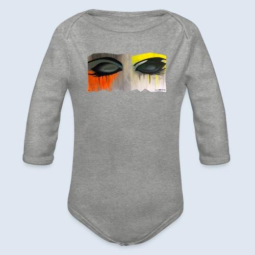 Closed Eyes Berlin PopArt ickeshop BachBilder - Baby Bio-Langarm-Body