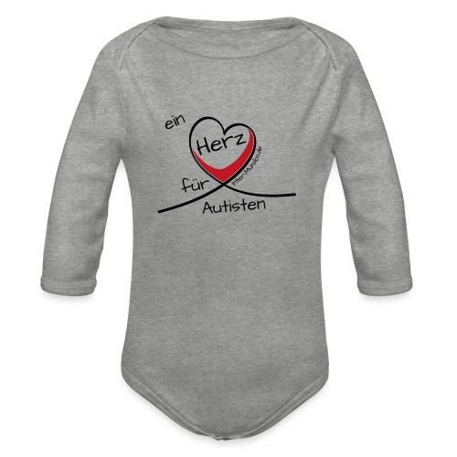 Ein Herz für Autisten - Baby Bio-Langarm-Body