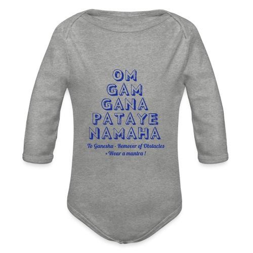 OM GAM GANAPATAYE - Body ecologico per neonato a manica lunga