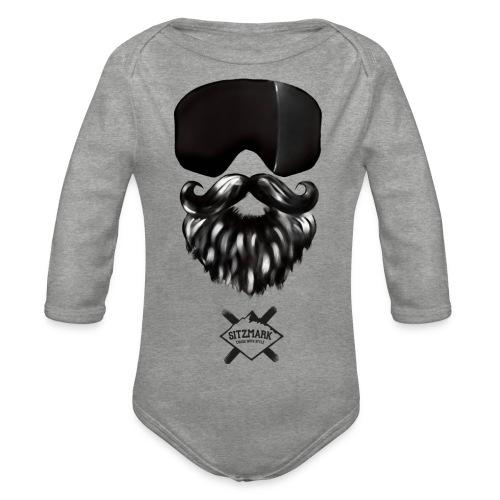 Beard mask - Body orgánico de manga larga para bebé