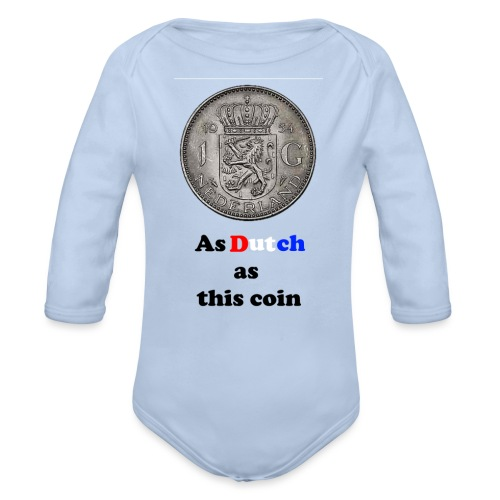 Hollandse Gulden - Baby bio-rompertje met lange mouwen