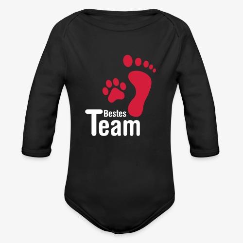 Bestes TEAM - Baby Bio-Langarm-Body