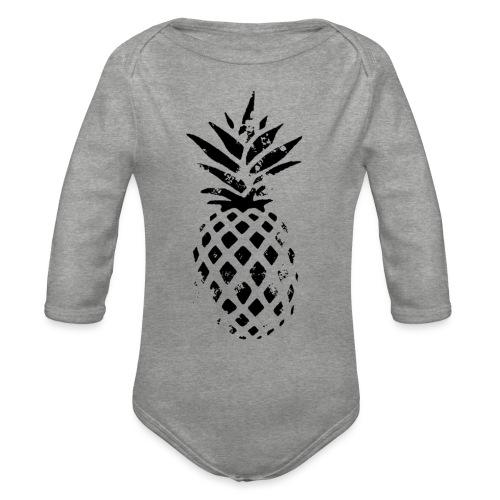 ananas - Body Bébé bio manches longues