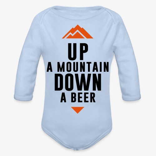 UP Mountain Down Beer - Body Bébé bio manches longues