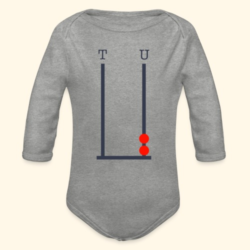 2 year old birthday - Organic Longsleeve Baby Bodysuit