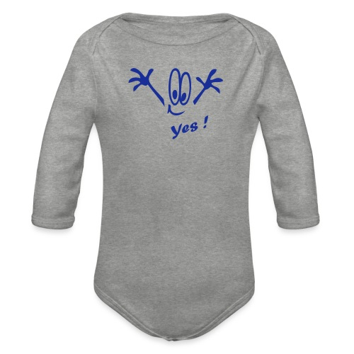 Yes ! Comic - Baby Bio-Langarm-Body