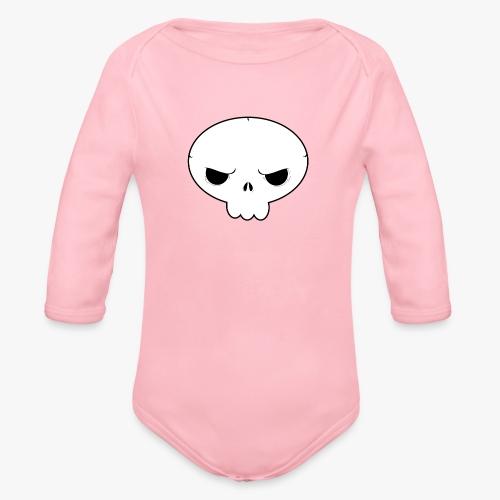 Skullie - Langærmet babybody, økologisk bomuld